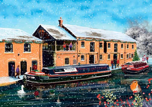 Burscough Wharf at Christmas